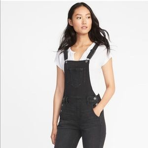 Old navy black denim skinny overalls nwt hot sale